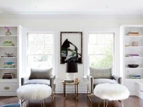 简约风小户型客厅对称装潢设计