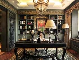 美式风格奢华别墅书房装修欣赏