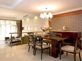 中式风格别墅餐厅利落设计