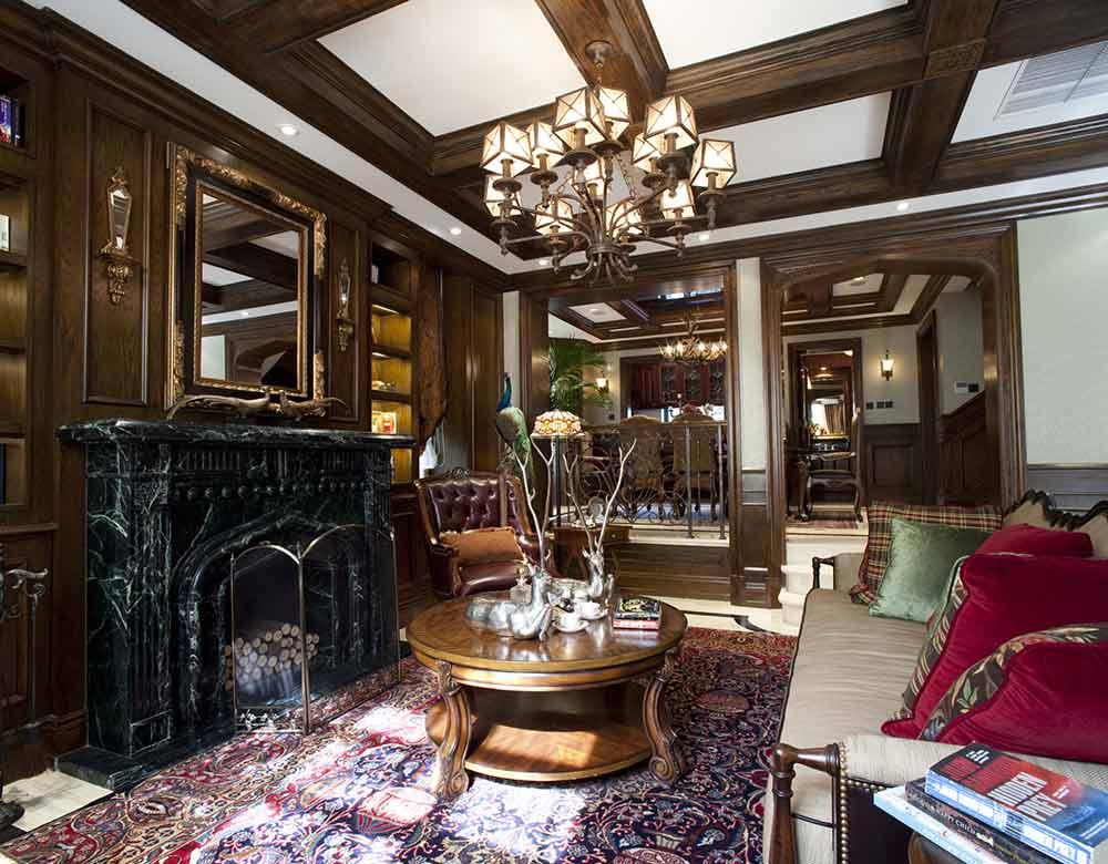 美式风格原始个性客厅装修效果图片