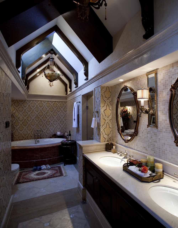 美式个性设计卫生间装修效果图