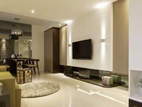 2016简约风二居室客厅设计效果图片