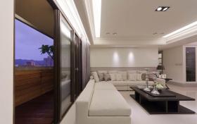 新中式原木色隔断装潢装饰