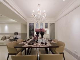 新古典白色餐厅装潢