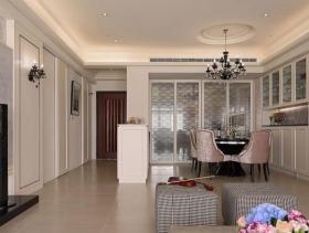 新古典白色优雅餐厅装潢布置
