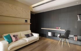 黑色稳重现代背景墙装修设计