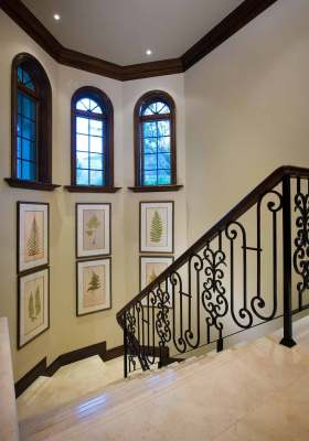 地中海飘逸楼梯装饰
