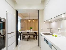 白色简约干净厨房装潢装饰