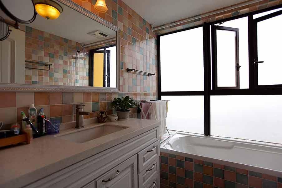 现代橙色个性厨房设计布置