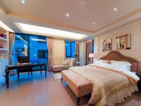 新古典蓝色浪漫卧室装修效果图