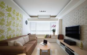 绿色清新简约客厅装修装潢