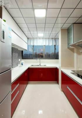 现代红色大气厨房装饰装修