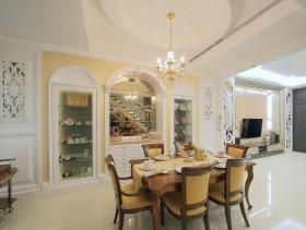 新古典白色餐厅装修布置