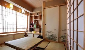 原木色中式榻榻米装修装饰