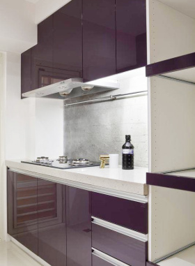 紫色现代厨房装潢