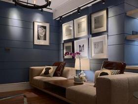 优雅简约风复式客厅装修欣赏