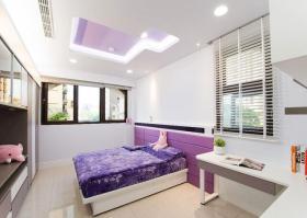 甜蜜紫色简约风格儿童房装修效果案例