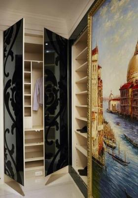 新古典风格功能强大鞋柜设计