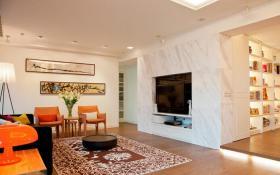 现代风格电视背景墙整体设计效果图片
