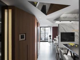 现代风格别墅玄关装潢案例欣赏