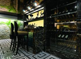 2016现代质感酒柜装修效果展示