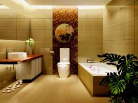 2016中式古雅卫生间装修案例