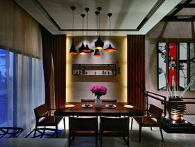 现代时尚装修餐厅设计图