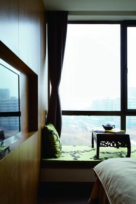 2016中式风格飘窗设计图片