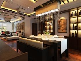 中式雅致餐厅装修效果图片欣赏