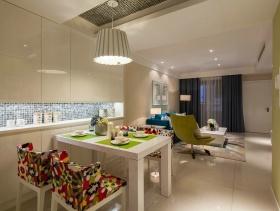 白色明亮现代家居餐厅装潢