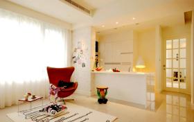 黄色温馨简约休息室装修布置
