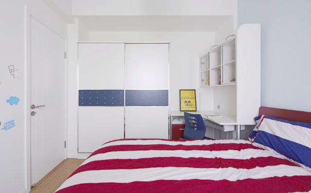 简洁而整齐的条纹更加感觉利落,线条的运用让空间更具有设计品位。