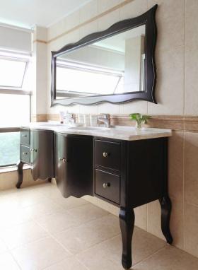 复古典雅欧式卫生间梳妆台装潢