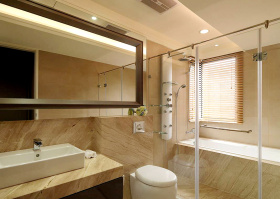 米色典雅卫生间设计