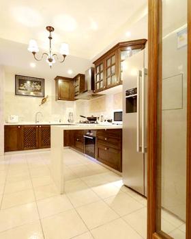 米色东南亚简洁厨房布局设计