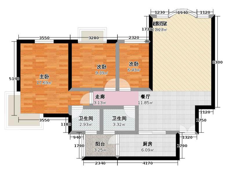 三室两厅美式半包22万