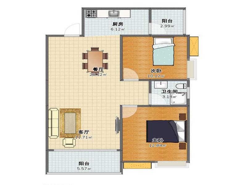 两室两厅地中海半包7万