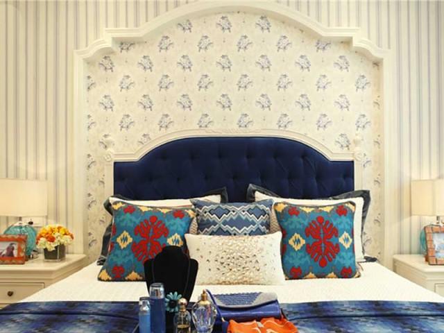 略带有贵族气质的设计,连卧室都要高贵起来。