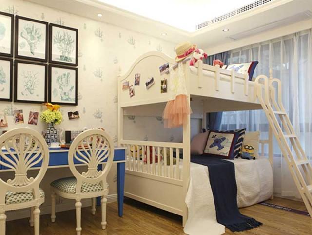 儿童房不能丢失那份童心,白色让房间看起来更干净。