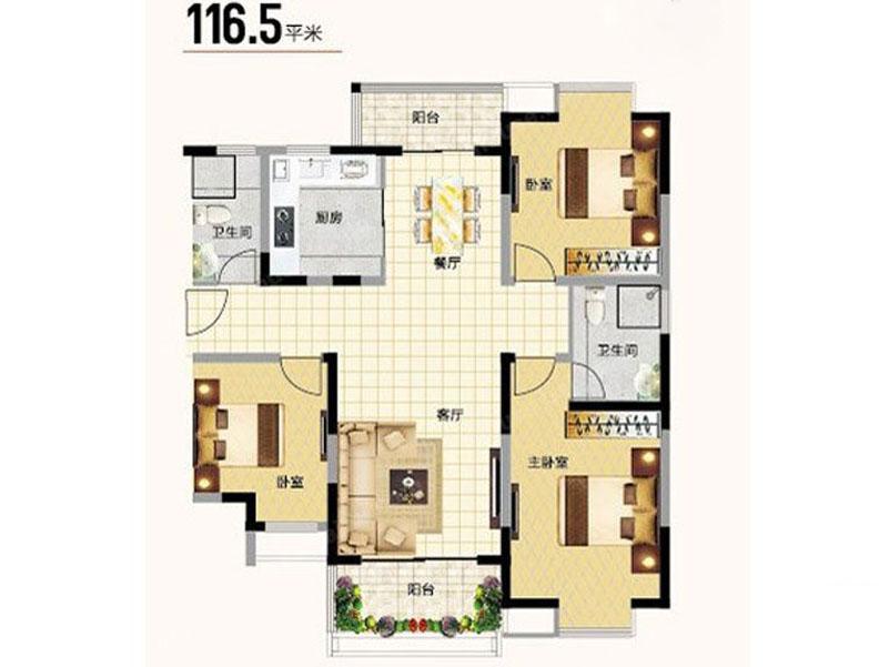 三室两厅欧式半包11万