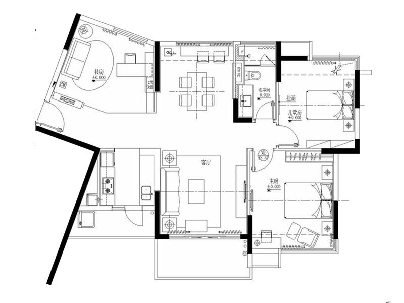 两室两厅混搭半包7万