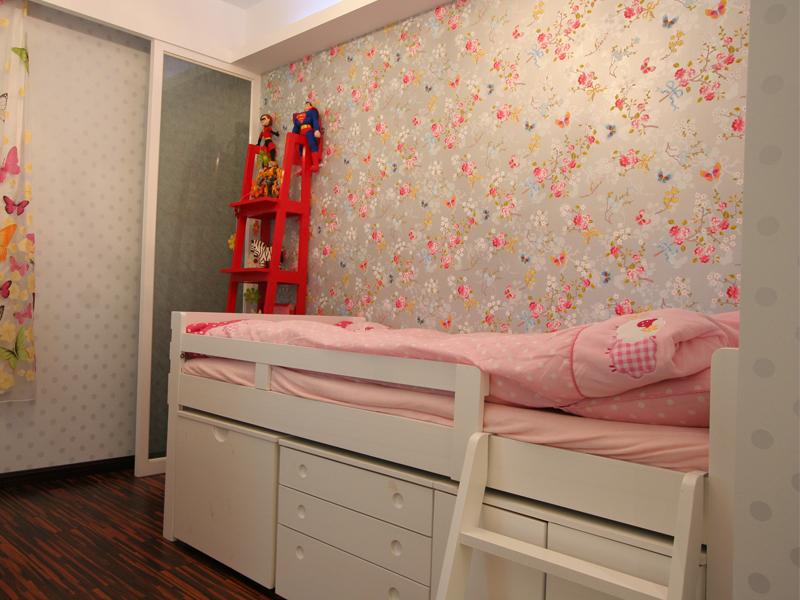 粉色墙壁装修效果图