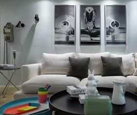 黑白几何风格客厅设计