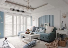蓝白客厅装修设计