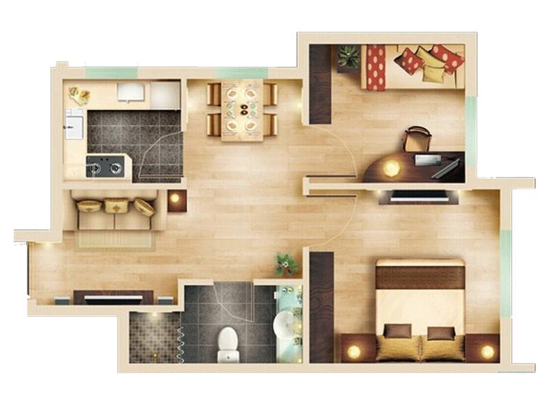 一室两厅简约半包6万