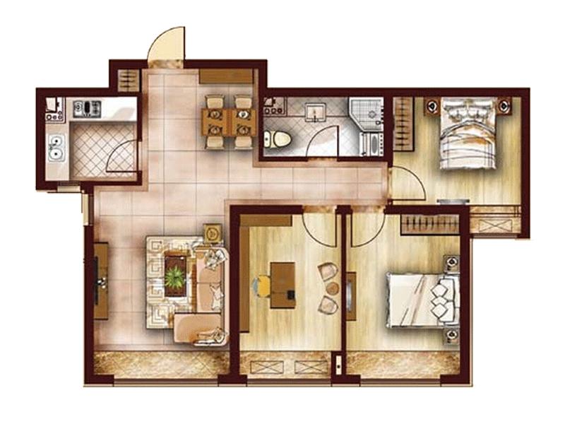 三室两厅美式半包24万