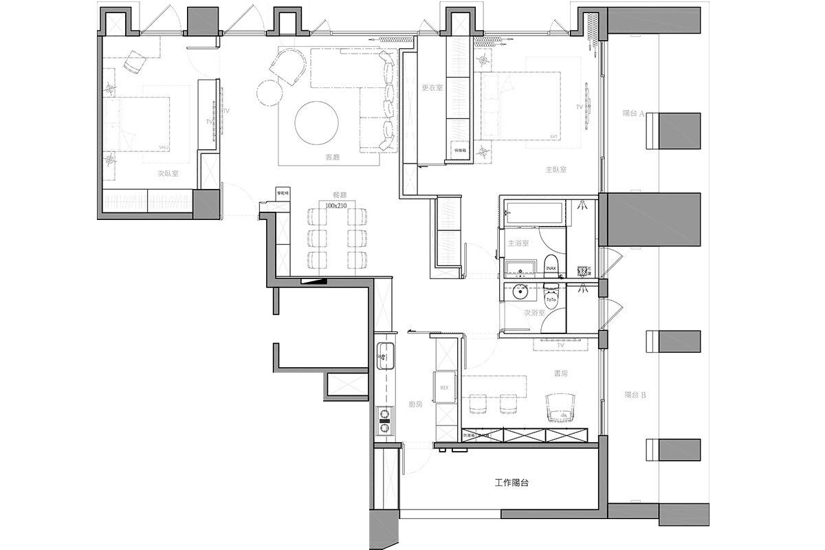 三室两厅简约半包9.5万