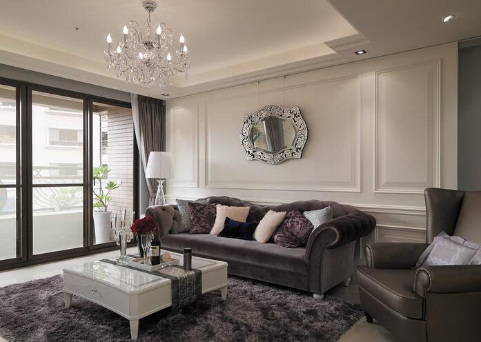 低调奢华新古典风格客厅个性装修
