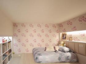 新古典主义复式装潢卧室设计效果图