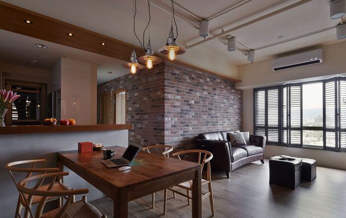 现代工业质感两居装修设计